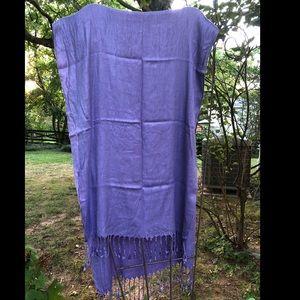 Fringe Bright Purple Wrap Scarf